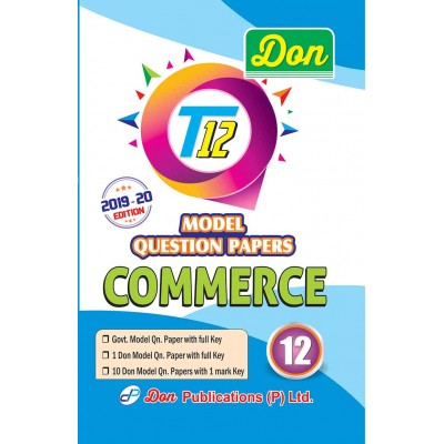 12th Commerce T12 Model Question Papers with Key