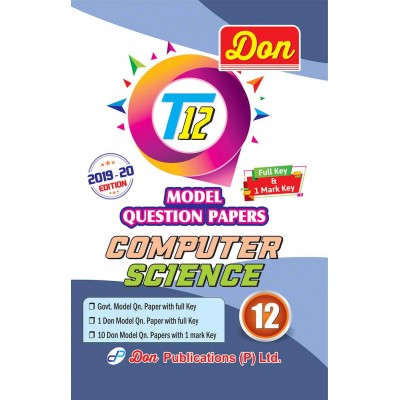 12th Computer Science T12 Model Question Papers with Key
