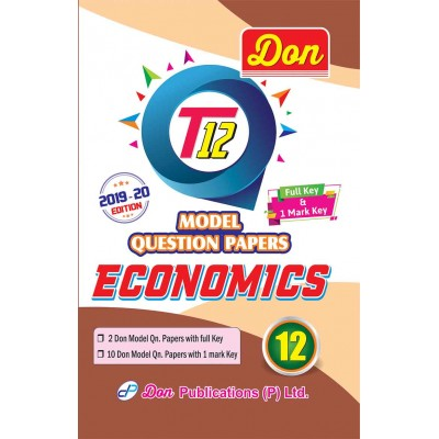 12th Economics T12 Model Question Papers with Key